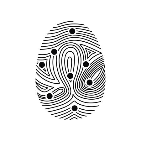 fingermark: Fingerprint icon. Identity security print and privacy theme. Isolated design. Vector illustration