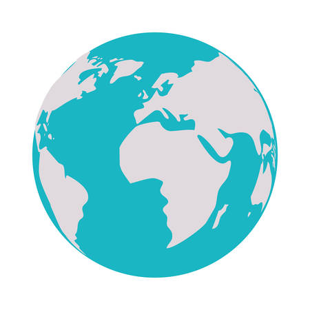 Planet sphere icon. Earth world globe ocean and universe theme. Isolated design. Vector illustration