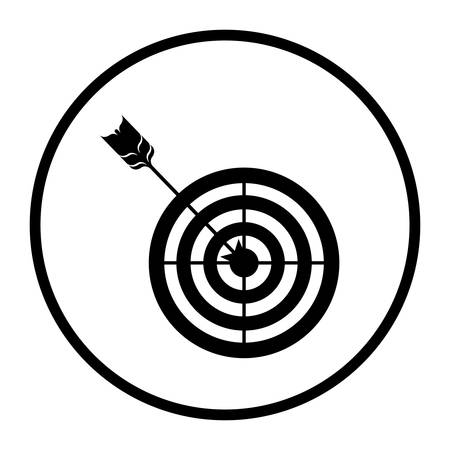 Target icon. Solution success strategy and idea theme. Isolated design. Vector illustration