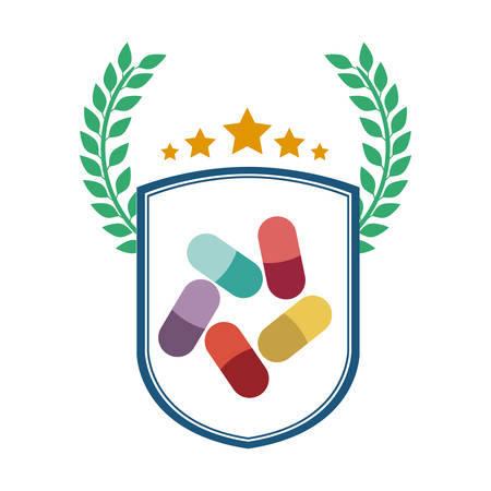 Medicine icon. Medical health care hospital and emergency theme. Isolated design. Vector illustration