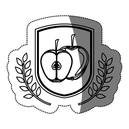 Apple icon. Organic healthy and fresh food theme. Isolated design. Vector illustration