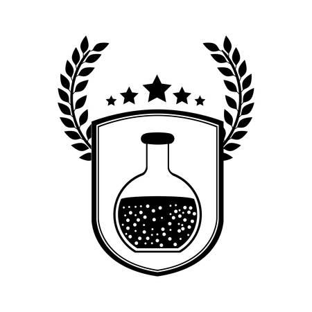 Flask icon. Medical health care hospital and emergency theme. Isolated design. Vector illustration