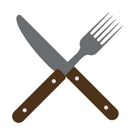 Cutlery icon. Dishware food restaurant and meal theme. Isolated design. Vector illustration