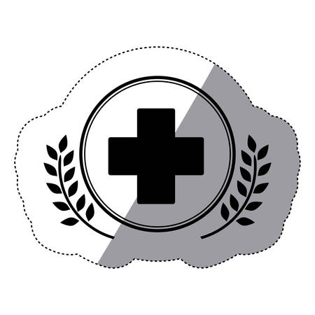 Cross shape icon. Medical health care hospital and emergency theme. Isolated design. Vector illustration Illustration