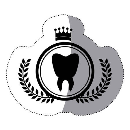 Teeth icon. Medical health care hospital and emergency theme. Isolated design. Vector illustration Illustration