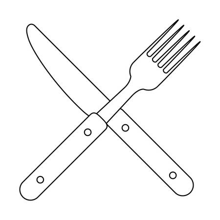 flatwares: Cutlery icon. Dishware food restaurant and meal theme. Isolated design. Vector illustration