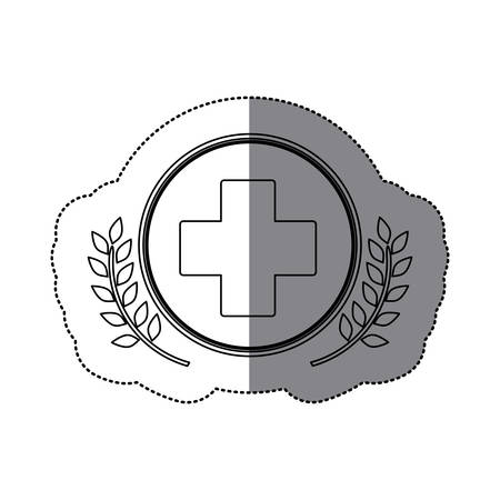 injure: Cross shape icon. Medical health care hospital and emergency theme. Isolated design. Vector illustration Illustration