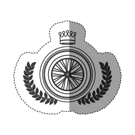 Bike wheel icon. Vehicle bicycle cycle and healthy lifestyle theme. Isolated design. Vector illustration
