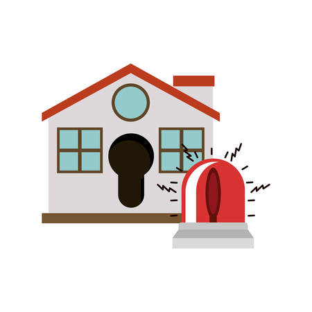 House and alarm icon. Insurance security protection and safety theme. Isolated design. Vector illustration Illustration