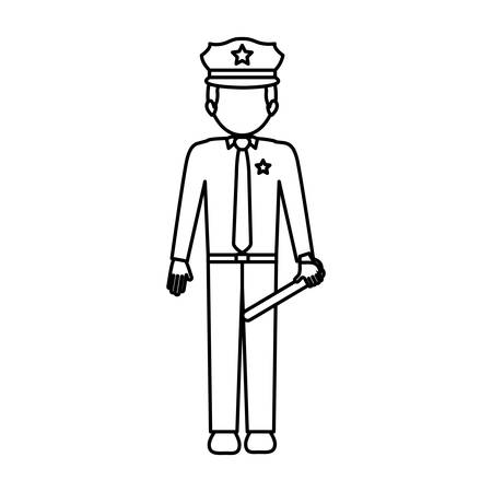 Policeman icon. Law justice legal judgment and crime theme. Isolated design. Vector illustration