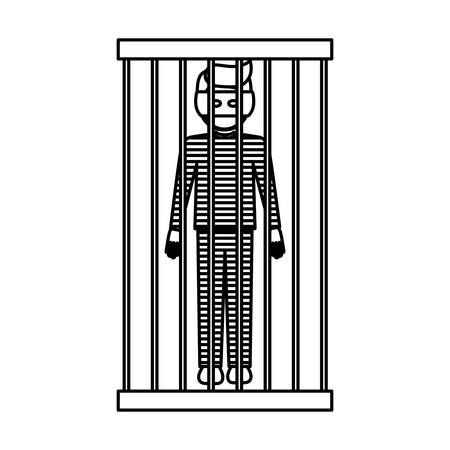 civil rights: Guilty icon. Law justice legal judgment and crime theme. Isolated design. Vector illustration