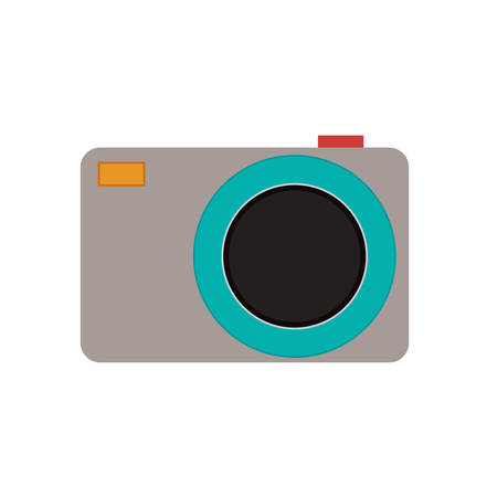 digicam: Camera device icon. Gadget technology and photography theme. Isolated design. Vector illustration Illustration
