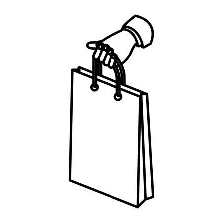 shopping bag icon: Shopping bag icon. Commerce market store and shop theme. Isolated design. Vector illustration