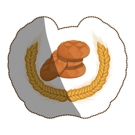 Bread icon. Bakery food shop traditional and product theme. Isolated design. Vector illustration