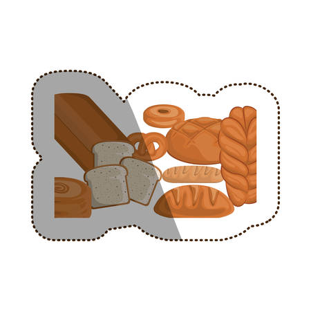 Breads icon. Bakery food shop traditional and product theme. Isolated design. Vector illustration Illustration
