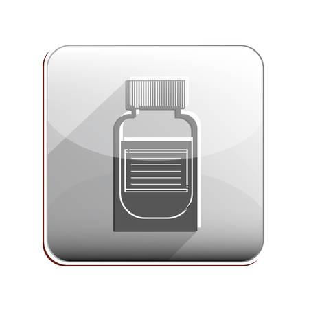 heath: Medicine icon. Medical heath care and hospital theme. Isolated design. Vector illustration