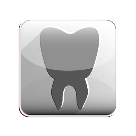 hygienist: Tooth icon. Dental medical heath care and clininc theme. Isolated design. Vector illustration Illustration