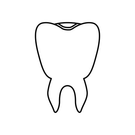 Tooth icon. Dental medical heath care and clininc theme. Isolated design. Vector illustration Illustration
