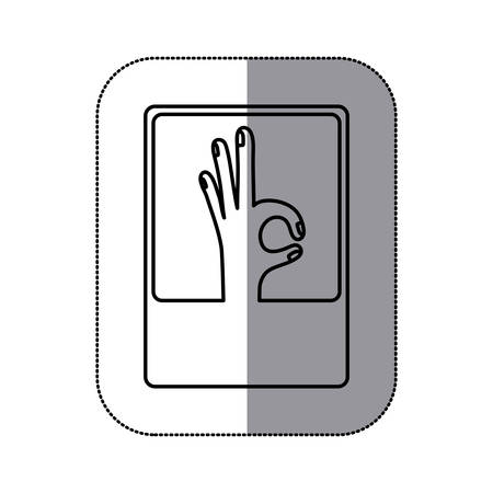 okey: Human hand icon. Finger gesture palm and communication theme. Isolated design. Vector illustration Illustration