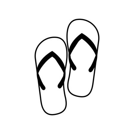 beuty: Sandals icon. Shoes fashion footwear beuty and beach theme. Isolated design. Vector illustration