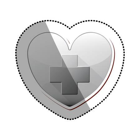 heath: Cross icon. Medical heath care and hospital theme. Isolated design. Vector illustration