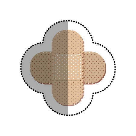 heath: Bandage icon. Medical heath care and hospital theme. Isolated design. Vector illustration Illustration