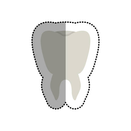 heath: Tooth icon. Dental medical heath care and clininc theme. Isolated design. Vector illustration Illustration