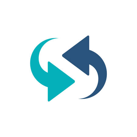 Arrows icon. App media multimedia internet and web theme. Isolated design. Vector illustration