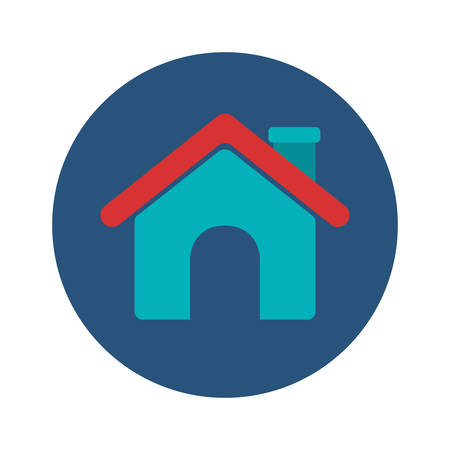 House icon. Home real estate and building theme. Isolated design. Vector illustration