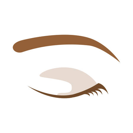 Female eye icon. View look vision and optical theme. Isolated design. Vector illustration