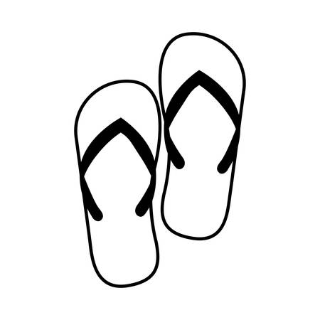 sandals isolated: Sandals icon. Shoes fashion footwear beuty and beach theme. Isolated design. Vector illustration