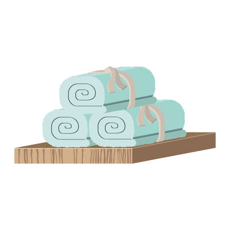 towels: Towels icon. Spa center healthy lifestyle and care theme. Isolated design. Vector illustration