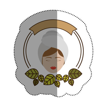 Woman with towel icon. Spa center healthy lifestyle and care theme. Isolated design. Vector illustration Illustration