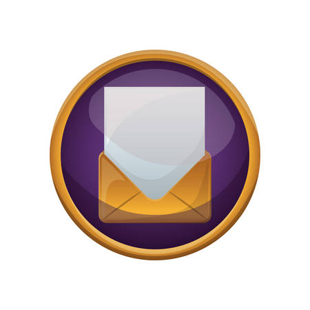 postmark: Envelope icon. Email mail message letter and marketing theme. Isolated design. Vector illustration