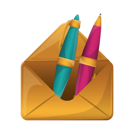 secretarial: Pen tool icon. Write office object and instrument theme. Isolated design. Vector illustration