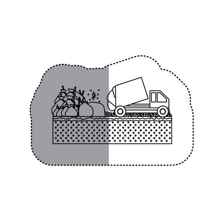 camion de basura: Trash truck icon. Ecology save environmental and care theme. Isolated design. Vector illustration Vectores