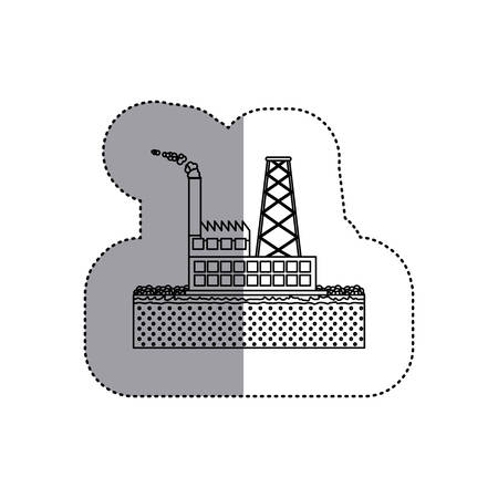 hazardous waste: Factory icon. Pollution environment and ecology  theme. Isolated design. Vector illustration