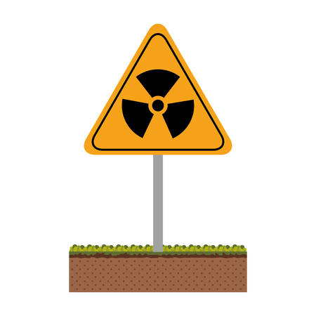 Biohazard icon. Nuclear plant power energy and pollution theme. Isolated design. Vector illustration