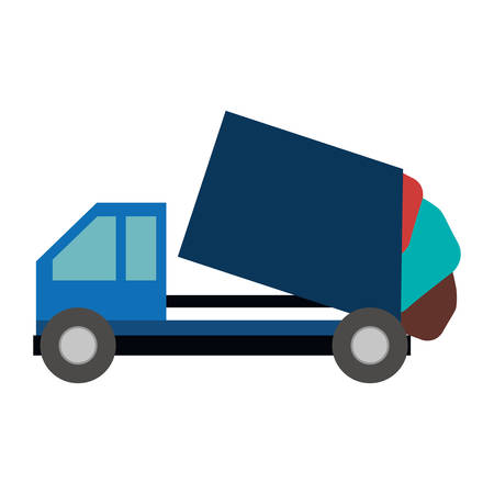 Trash truck icon. Ecology save environmental and care theme. Isolated design. Vector illustration Illustration