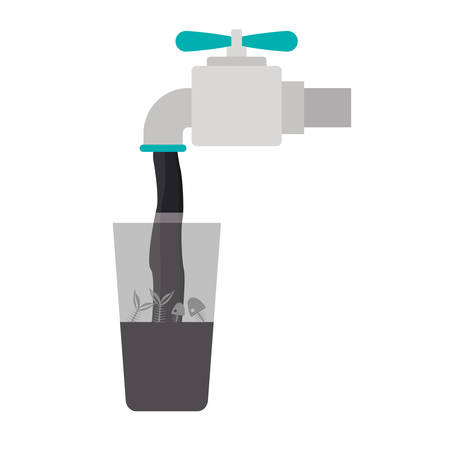 Tap icon. Faucet ecology water drink liquid and beverage theme. Isolated design. Vector illustration Illustration