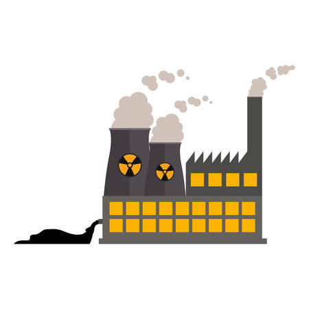 hazardous to the environment: Factory icon. Pollution environment and ecology  theme. Isolated design. Vector illustration