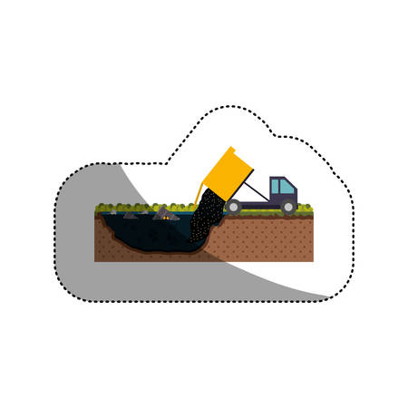 hazardous waste: Truck icon. Pollution environment and ecology  theme. Isolated design. Vector illustration Illustration