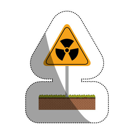 vector nuclear: Biohazard icon. Nuclear plant power energy and pollution theme. Isolated design. Vector illustration