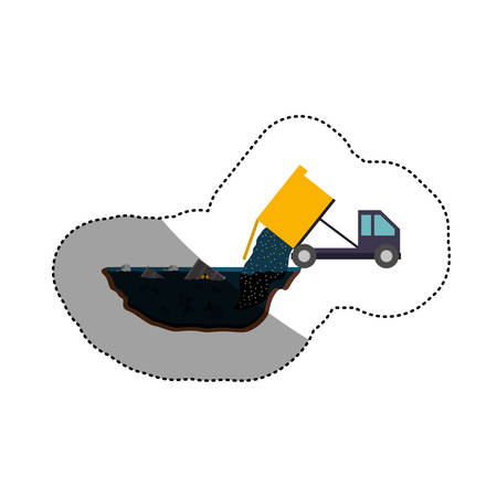 Truck icon. Pollution environment and ecology  theme. Isolated design. Vector illustration Illustration