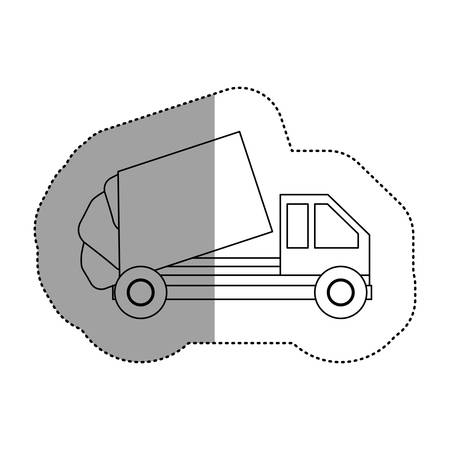 camion de basura: Trash truck icon. Ecology save environmental and care theme. Isolated design. Vector illustration Vectores
