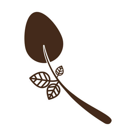flatwares: Spoon icon. Cutlery dishware tool and utensil theme. Isolated design. Vector illustration