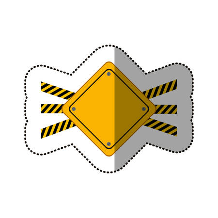 vector sign under construction: Road sign icon. Under construction work repair and progress theme. Isolated design. Vector illustration Illustration