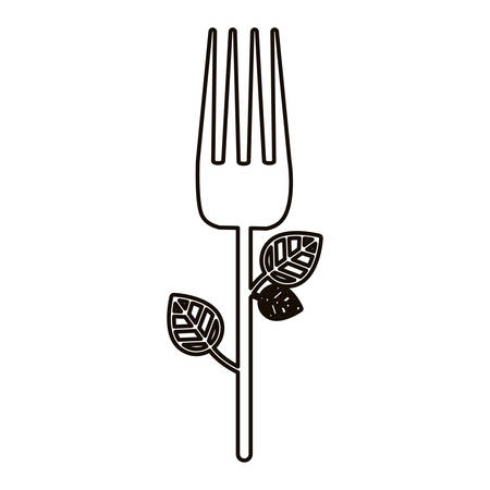 Fork icon. Cutlery dishware tool and utensil theme. Isolated design. Vector illustration Illustration