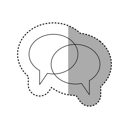 Communication bubble icon. Message discussion and conversation theme. Isolated design. Vector illustration Illustration