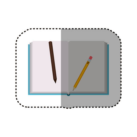 directory: Agend and pencils icon. Notebook book directory and information theme. Isolated design. Vector illustration Illustration